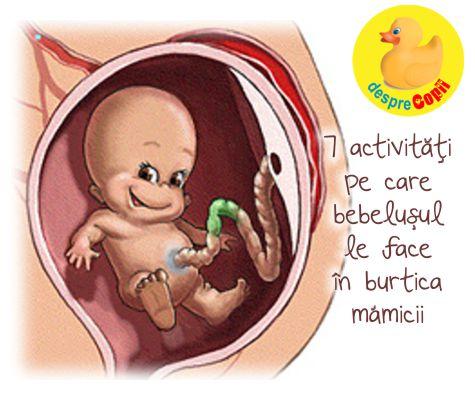 7 activitati pe care le face bebelusul inca din burtica mamei