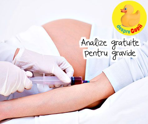 Ce analize sunt gratuite pentru gravide?