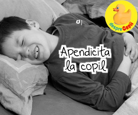 Apendicita la copil