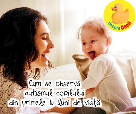 Identificarea autismului inca din primele 6 luni de viata a copilului