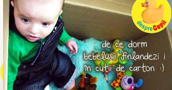 De ce dorm bebelusii finlandezi in cutii de carton