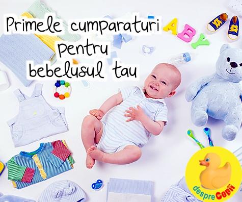 Primele cumparaturi pentru bebelusul tau