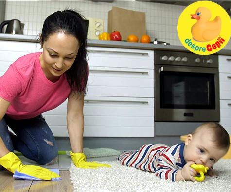 Cat si cum pastram curatenia cand avem un bebelus