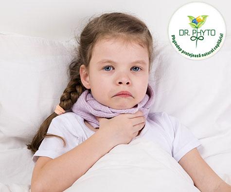Faringita acuta la copil