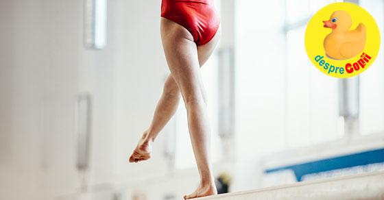 Fetita care a iubit atat de mult gimnastica