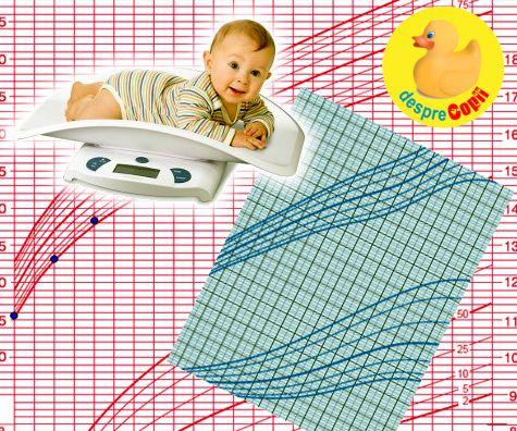 Graficele de crestere ale bebelusului: cand trebuie sa ne ingrijoram