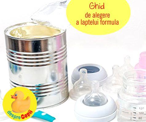 Cum aleg formula de lapte praf: ghid pentru mamici