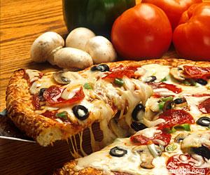Pizza cu ciuperci si pepperoni