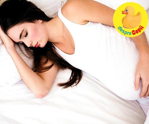 Pozitii corecte si pozitii riscante de somn in timpul sarcinii