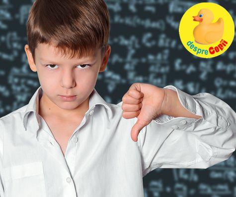 Cand copilul uraste scoala - ce facem?