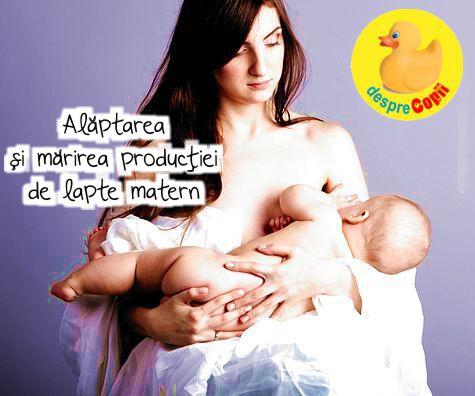 Alaptarea si marirea productiei de lapte matern
