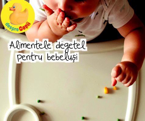 Alimentele degetel (bucatele de papica): cand, ce si cum
