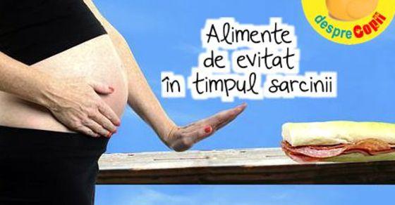 Alimente de evitat in timpul sarcinii width=
