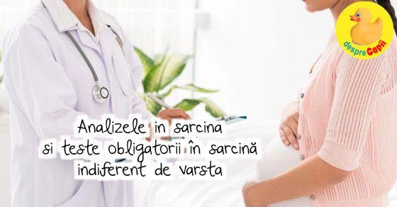 Analizele in sarcina si teste obligatorii �n sarcină indiferent de varsta width=