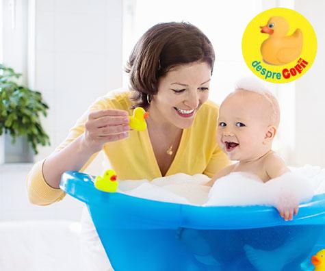 Baita bebelusului, un moment de conectare, nu o corvoada!