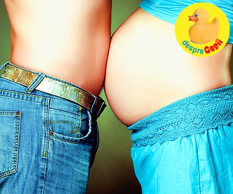 De ce se ingrasa viitorul tatic cand partenera este insarcinata