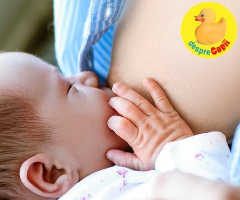 Daca bebelusul primeste suficient lapte in timpul alaptarii vei avea aceste semnale