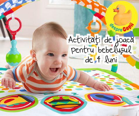 Activitati de joaca pentru bebelusul de 4 luni