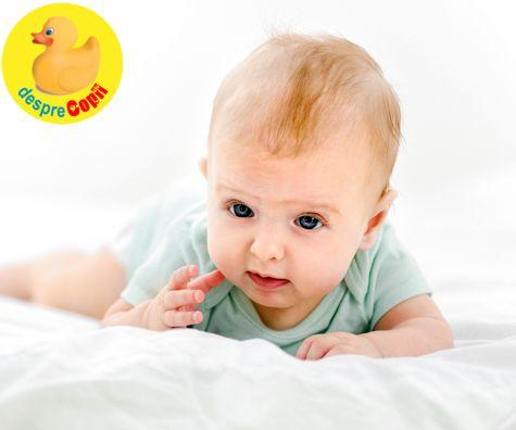 Statul pe burtica ajuta la dezvoltarea muschilor bebelusului - iata de ce este ca un sport pentru el