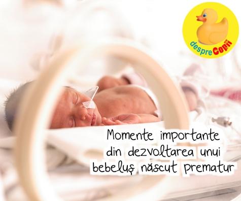 Momente importante din dezvoltarea unui bebelus nascut prematur