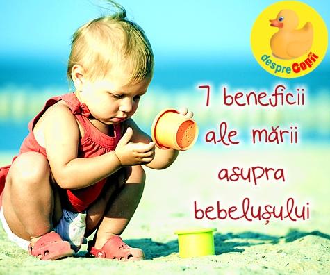 7 beneficii ale marii asupra bebelusului