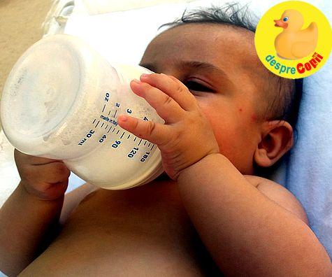 Inceperea hranirii cu lapte formula (sau cu biberonul)