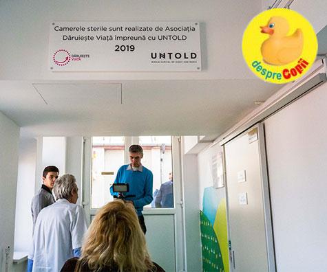 Primele camere sterile din Transilvania, la Spitalul de Copii din Cluj-Napoca!