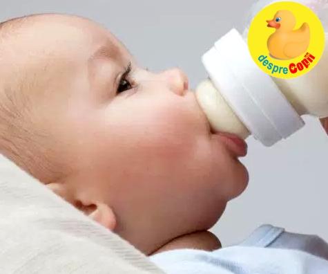 Cat lapte bea bebelusul in primul an?