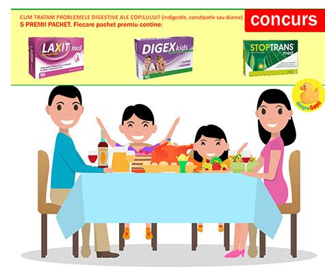 CONCURS - Cum tratam problemele digestive ale copilului?