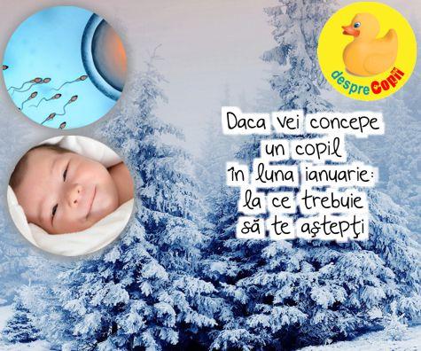 Daca vei concepe un copil in luna ianuarie: la ce trebuie sa te astepti