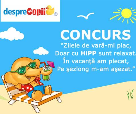 CONCURS - Zilele de vara-mi plac, doar cu HIPP sunt relaxat!