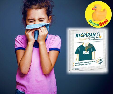 Congestia nazala a copilului se invinge cu un plasture Respiran
