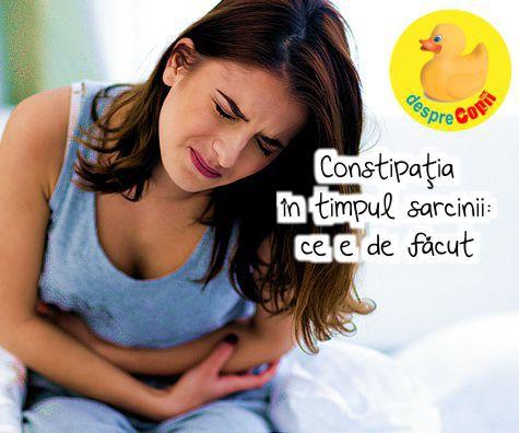 Constipatia in timpul sarcinii: ce e de facut