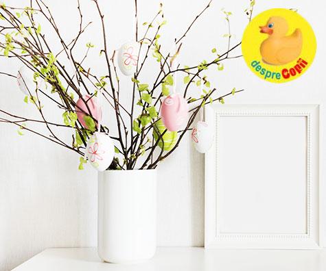 Copacel alb de Paste - design pentru sarbatori