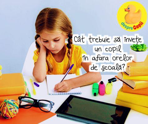 Cat timp zilnic trebuie sa isi dedice un copil pregatirii pentru scoala?