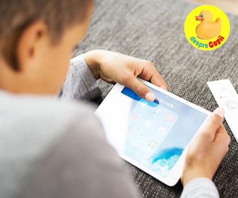 Utilizarea excesiva a iPad-urilor si telefoanelor smart dauneaza copiilor