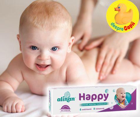 Crema de fundulet pentru un bebe fericit: Alinan Happy crema