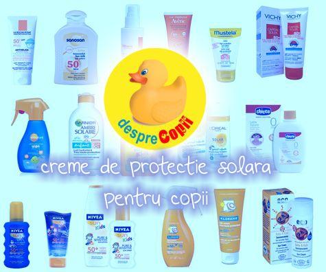 Creme de protectie solara pentru copii recomandate de mamicile de la Desprecopii