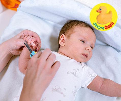 S.O.S: Mi-e frica sa tai unghiile bebelusului!
