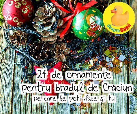 24 de ornamente pentru bradul de Craciun pe care le poti face si tu