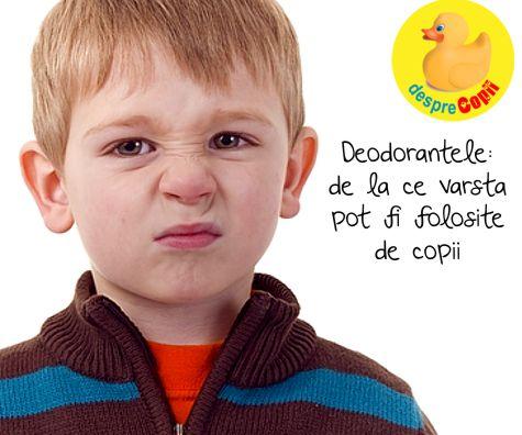 Deodorantele, de la ce varsta pot fi folosite de copii?