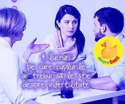 4 lucruri pe care cuplurile ar trebui sa le stie despre infertilitate