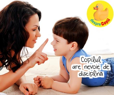 Copilul are nevoie de disciplina: despre reguli si echilibru