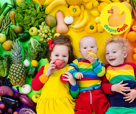 Diversificarea si alimentatia vegetariana pentru bebelusi si copii mici