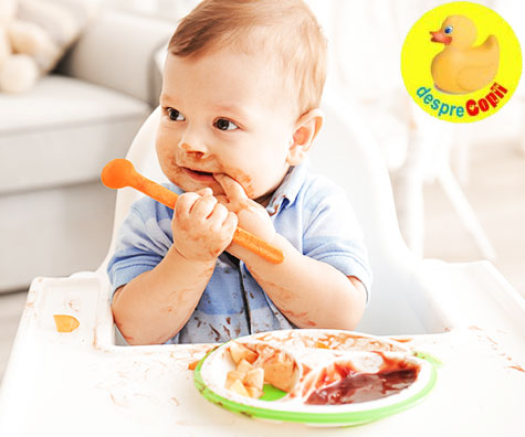 De la degetel la lingurita: cand bebelusul incepe sa isi manifeste independenta