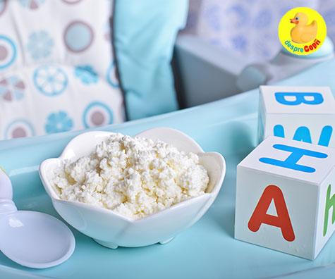 Branza de vaci in alimentatia copilului: cand si cum