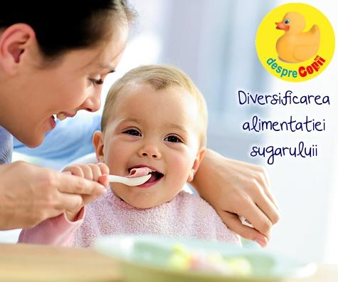 Diversificarea alimentatiei sugarului