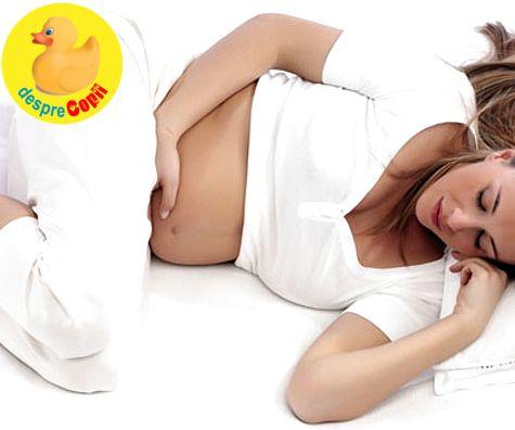 Gravidute, atentie la dormitul pe spate