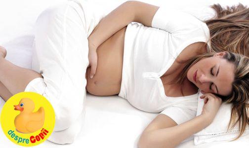 Gravidute,  atentie la dormitul pe spate width=