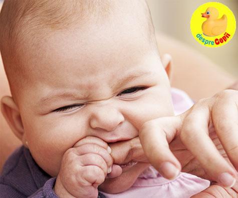 Cum tratam durerea de dintisori la bebelusi, cu ulei de cocos